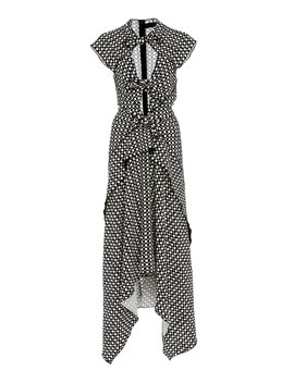 tie-detailed-cut-out-printed-crepe-midi-dress by proenza-schouler