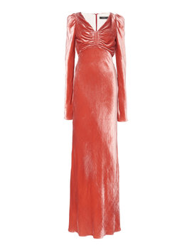 ruched-crushed-velvet-maxi-dress by ellery