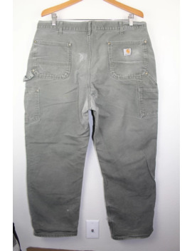 carhartt-heavy-canvas-work-pants-40x32-naturally-distressed by vintage  ×  carhartt  ×  streetwear  ×