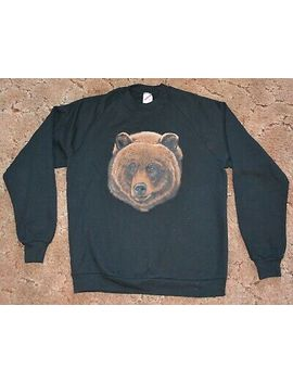 mens-sweatshirt-bear-head-design-size-large by jerzees