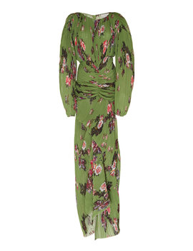 ofira-ruched-floral-print-plissé-maxi-dress by preen-by-thornton-bregazzi