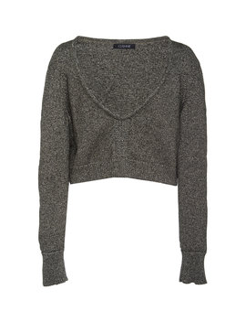 cropped-metallic-knitted-sweater by cushnie