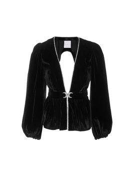 exclusive-luisa-cutout-crystal-embellished-velvet-top by markarian