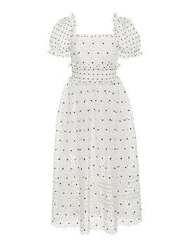 guipure-lace-midi-dress by self-portrait