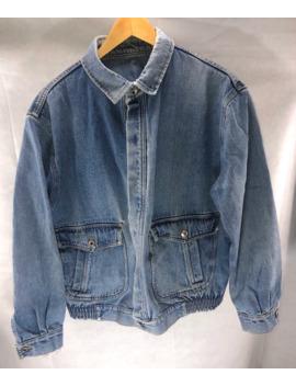 levis-denim-trucker-jacket-size-large-big-leather-patch-rare by vintage  ×  levis  ×  levis-vintage-clothing  ×
