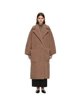 pink-faux-fur-imogen-maxi-coat by nanushka
