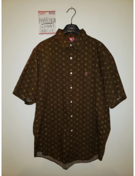 vintage-bape-button-up-sta-all-over-print-short-sleeve by bape  ×