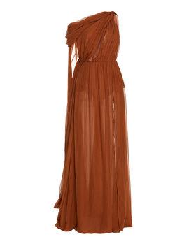 draped-one-shoulder-chiffon-maxi-dress by dundas