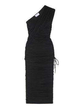 orion-one-shoulder-ruched-stretch-jersey-midi-dress by significant-other