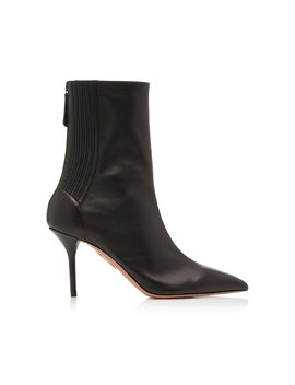 saint-honore-leather-ankle-boots by aquazzura