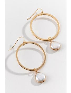 Delaney Pearl Circle Drop Earrings by Francesca's