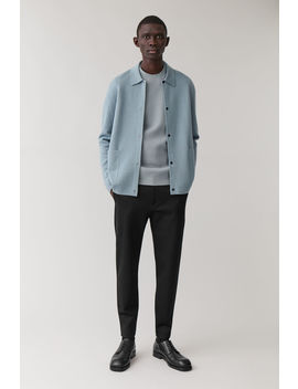 zipped-hem-slim-trousers by cos