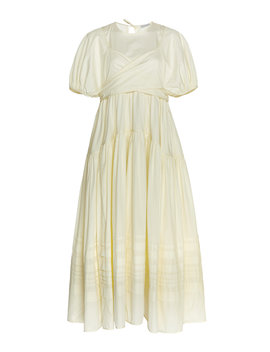 elisa-wrap-front-cotton-poplin-maxi-dress by cecilie-bahnsen