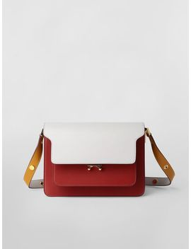 Trunk Bag In Three Colored Calfskin by Marni