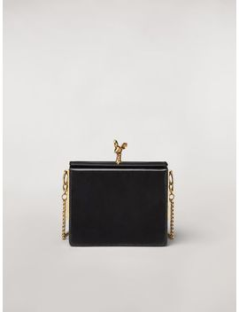 Fawn Bag In Shiny Calfskin Black by Marni