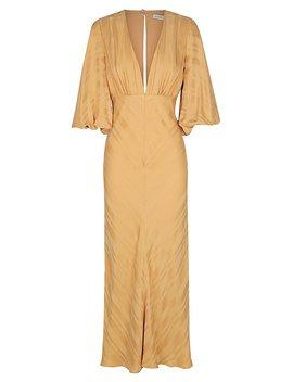 daisy-balloon-sleeve-bias-midi-dress by shona-joy