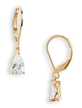 pear-cut-cubic-zirconia-drop-earrings by nordstrom