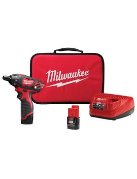 m12-12-volt-lithium-ion-cordless-1_4-in-hex-screwdriver-kit-with-two-15ah-batteries,-charger-and-tool-bag by milwaukee