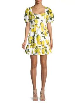 lemon-print-mini-dress by english-factory