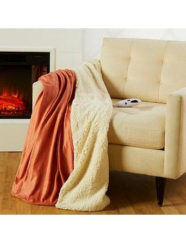 "<Span Class=""Callout Exclusive"">Exclusive!</Span>                  Soft &Amp; Cozy Reversible Heated Plush/Sherpa Throw by Soft & Cozy"