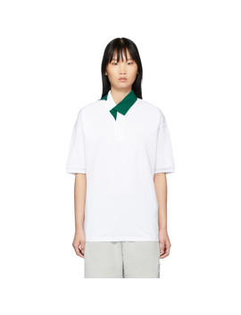 white-&-green-contrast-collar-polo by lacoste
