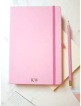 personalised-notebook-light-pink-luxury-journal,-a5-lined-with-monogram_initials-custom-gift-_-stationery-for-her by etsy