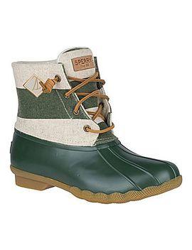 womens-saltwater-varsity-stripe-duck-boot by sperry