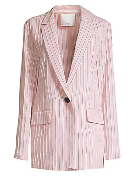 stripe-twilll-one-button-blazer by tibi