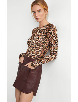 Leopard Print Knit Top by Bcbgmaxazria