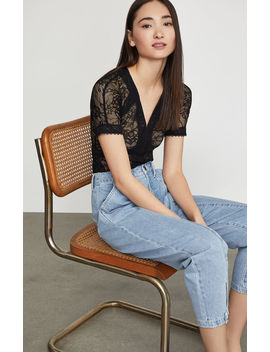 Sheer Lace Top by Bcbgmaxazria