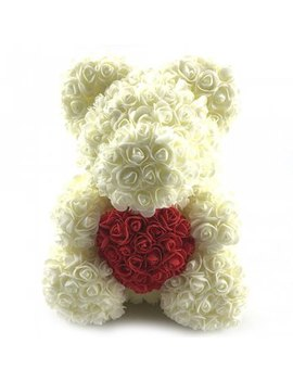 40cm Decoration Color Blocking Rose Flower Bear by Dress Lily