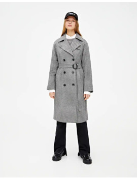 casaco-longo-de-pano-aos-quadrados by pull-&-bear