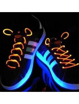 Special Stylish 3 Mode Colored Led Super Flashing Light Shoelaces For Halloween Party by Dress Lily