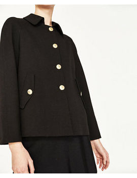 zara-peter-pan-collar-jacket-pleated-gold-buttons-black-2009_293-size-l by zara