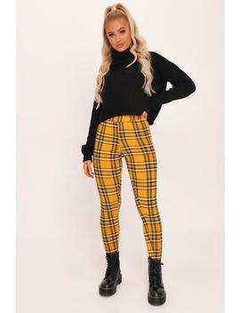 yellow-check-high-waisted-leggings by i-saw-it-first