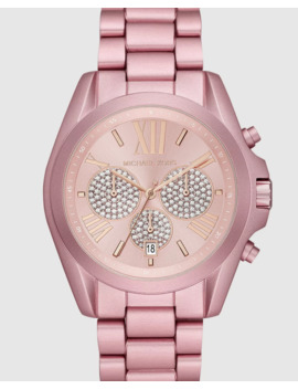 bradshaw-pink-chronograph-watch by michael-kors