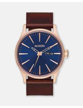 sentry-leather-watch by nixon