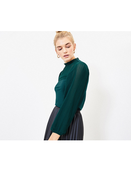 pleat-sleeve-blouse by oasis