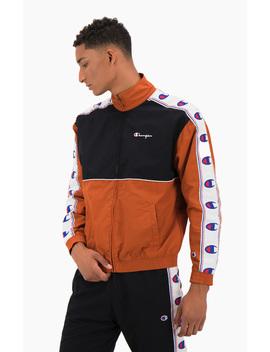 colour-block-logo-tape-trim-track-jacket by champion