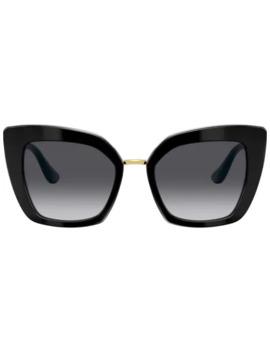 butterfly-oversized-frame-sunglasses by dolce-&-gabbana-eyewear