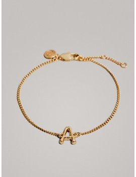 gold-plated-letter-a-bracelet by massimo-dutti