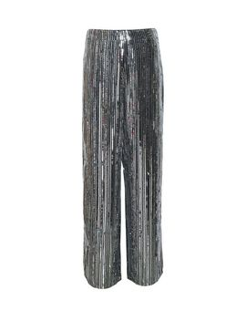 silver-sequin-striped-palazzo-trousers by dorothy-perkins