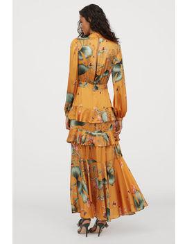 långklänning-med-scarfkrage by h&m