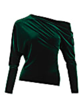 catch-a-buzz-emerald-green-velvet-top by me&thee