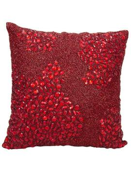 mina-victory-luminescence-fully-beaded-scarlet-throw-pillowby-nourison-(16-inch-x-16-inch) by nourison