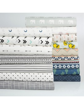 mainstays-100%-cotton-percale-printed-sheet-set,-modern-weave,-king by mainstays