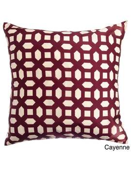 alexia-geometric-20-inch-feather-and-down-filled-throw-pillow-(set-of-2)---red by generic