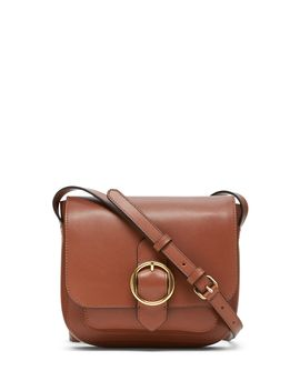 Leather Saddle Bag by Banana Republic