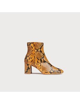 Jette Yellow Snake Print Ankle Boots by L.K.Bennett