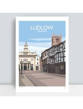 ludlow,-shropshire-hand-signed-art-print_travel-poster by etsy